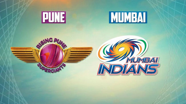 Rising Pune Supergiant vs Mumbai Indians.
